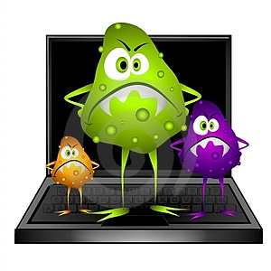 virus cartoon