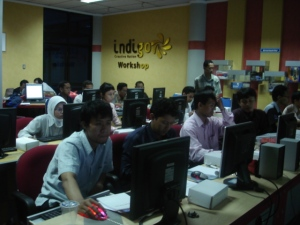 suasana workshop di Indigo